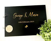 "Personalised ""Bride & Groom's name"" Wedding / Engagement (Customise) Guest Book"