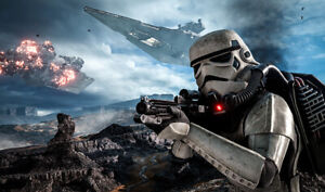 F3970 Star Wars Card Game Playmat TCG Play Mat Stormtrooper Star Destroyer