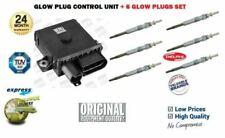 FOR BMW X5 3.0D E53 E70 2001-2013 DIESEL GLOW PLUG CONTROL UNIT RELAY + 6 PLUGS
