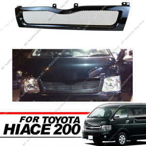 Black Electroplate Honeycomb Front Grill j Fit For Toyota Hiace 200 Series 10-13