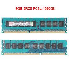 For Hynix 8GB 2Rx8 PC3L-10600E DDR3-1333Mhz 240Pin ECC UDIMM Server Memory RAM
