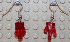 LEGO Earrings Transparent Red Rock  NEW!!!