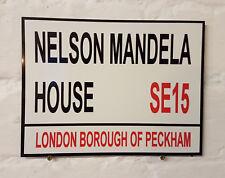 Londres calle signo-Nelson Mandela House-Metal Aluminio Signo
