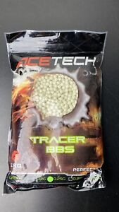 Acetech 0.25G Green Tracer BB 4000 Rounds Rounds Bullets Ammo Airsoft 6mm
