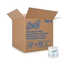 Scott Essential Professional 100% Recycled Fiber Bulk Toilet Paper for Busine.