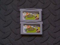 Lot Nintendo Game Boy Advance GBA Games GBA Video Spongebob Squarepants V1 & 2