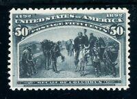 USAstamps Unused VF US 1893 Columbian Expo Recall of Columbus Scott 240 OG MNH