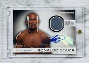 "2012 Topps UFC KO (#015/100) RONALDO SOUZA ""JACARE"" FIGHTER GEAR RELIC CARD!!!"