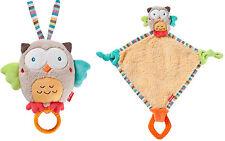 Baby-Nova Set Eule Spieluhr und Schmusetuch EULE mit Beißring 3124+32213 NEU ovp