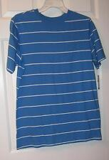 NWT BOYS YOUTH BLUE & WHITE STRIPE CHEROKEE TOP       SIZE L 12-14