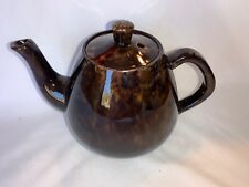 Vintage Brown Marbled-look Tea Pot W/ Lid Made In England