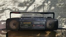 Vintage GE General Electric Boombox Dual Cassette Deck Dubbing and Radio player.