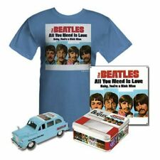 The Beatles  ALL YOU NEED IS LOVE collectable TIN, TAXI & T-SHIRT  NRFB   Ltd Ed