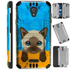 Silverguard For Tcl A1 / Alcatel Insight Phone Case Brush Hybrid Cover Ab6