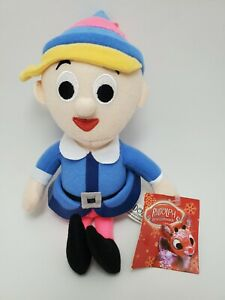 """Rudolph the Red Nosed Reindeer Hermey Plush Elf Toy Factory 9.5"""" Stuffed Toy Tag"""