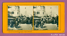 STÉRÉO STEREOVIEW : EXPO UNIVERSELLE 1900 PARIS, ENTRÉE DE LA RUE D'ALGER -K58