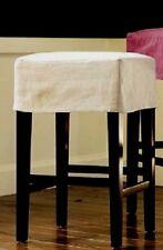 Pottery Barn Napa Slipcover Backless Barstool New Brushed Canvas Raffia