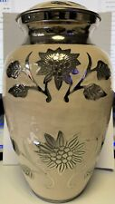 meilinxu Large Urn - Rosedale White Funeral Cremation Urn for Human Ashes