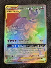 Pokemon Card Secret Rare Tag Team Solgaleo & Lunala GX RR 254/236 Cosmic Eclipse