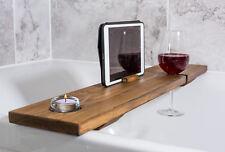 Rustic Wooden Bath Caddy Bath Tray Bath Shelf Tablet Holder Handmade in the UK