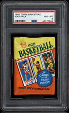 1980-81 Topps Basketball Unopened Pack PSA 8 NM-Mint Bird Magic Johnson *884