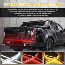 "60"" Triple Row LED 3 Colors Tailgate Light Bar Turn Signal DRL Flash Lights Lamp"