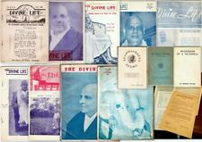 """Lot of 9 """"The Divine Life"""" Buddhism Magazines (1948-1960) + Booklets, Misc."""