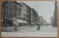 1907 POSTCARD OF FORT WAYNE INDIANA CALHOUN STREET FROM BERRY LOOKING NORTH