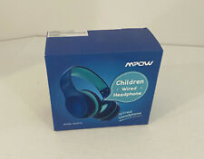 Mpow Wired 3.5mm Over-Ear Folding Headphones for Kids - Blue