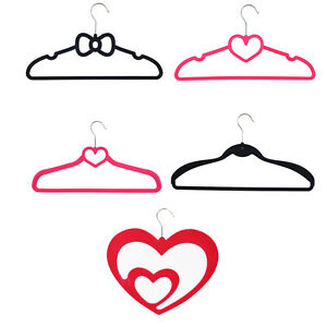 JVL Suit Jacket Scarf Black Pink High Quality Velvet Touch Non-Slip Coat Hangers