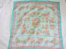 """Vintage 70S/80S Collectable 30"""" Spring Colors Scarf Beautiful Cond"""