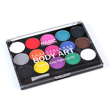 15 Colors Palette Face & Body Paint Party Ball Club Festival Model Stage Makeup