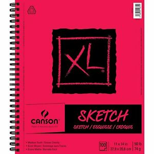 Canson XL Series Paper Sketch Pad for Charcoal, Pencil and Pastel, Side Wire …