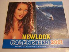 CALENDRIER EROTIQUE , SEXY , CHARME . NEWLOOK 2001 . 12 POSTERS . TRES BON ETAT