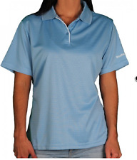 NWT Women's Reebok Play Dry Textured Performance Fabric Polo Top 4X Blue