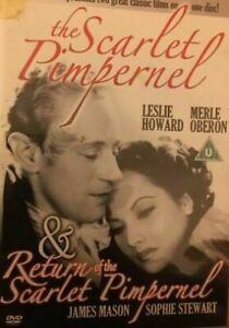 Return of the Scarlet Pimpernel DVD + Scarlet Pimpernel DOUBLE MOVIE James Mason