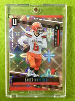 BAKER MAYFIELD PRIZM GALACTIC REFRACTOR SSP UNPARALLELED 2019 BROWNS JERSEY#6 SP