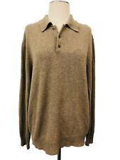 Spring & Mercer Men's Light Brown Pullover Long Sleeve Cashmere Sweater Sz large