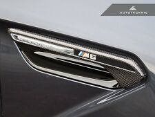AUTOTECKNIC DRY CARBON FIBER FENDER LIGHT SIDE VENT TRIM - BMW F06 F12 F13 M6