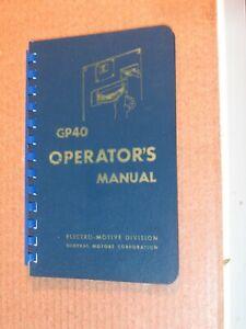 L&N  Louisville Nashville GP40 General Motors Diesel Locomotives manual