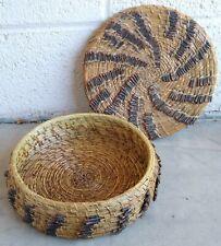 Old Native American Coushatta Pine Needle Basket circa 1940's