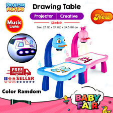 Children Smart Learn Projector Kids Learning Desk Toy Drawing Painting Table Usa