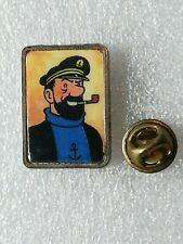 Pin's Pins Tintin et Milou bd Hergé comic strip Capitaine Haddock