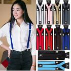 Mens Womens Elastic Clip-on Solid Color Y-Shape Adjustable Braces Suspender Hot