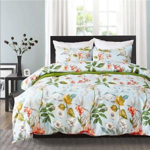 Queen Size Bedding King Size Bed Set Pillowcase For Bedroom Flower Print Bedding