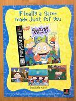 Rugrats PS1 Playstation 1 1998 Vintage Print Ad/Poster Art Official Nickelodeon!