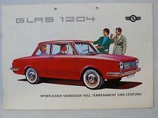 Prospekt Glas 1204 / S 1204 / S 1004 Limousine/Coupe/ Cabrio, 7.1963, 12 Seiten