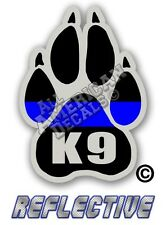 """Thin Blue Line Decal 3"""" inch TBL (PAW) Reflective Sticker Thin Blue Line (K9)"""