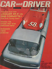 Car & Driver 12/1961 featuirng Jaguar E-type, Corvette, Porsche, Mercedes W196