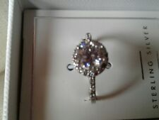 Attractive Sterling Silver Cz Ring New & Boxed by NEXT (Size M Ring Size)